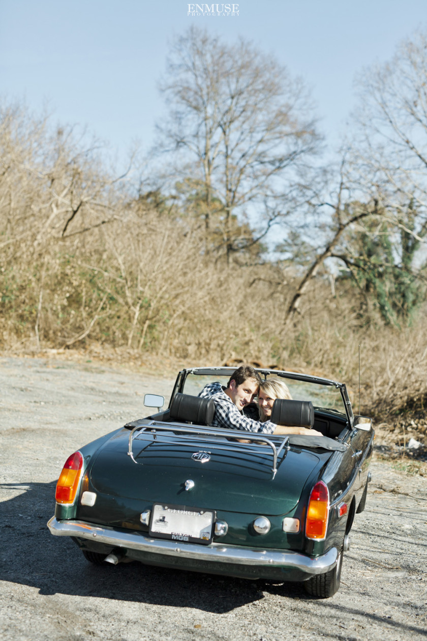 01 Antique Car Atlanta Engagement Photography 0122
